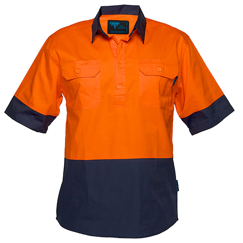 Orange/Navy | Closed Shirt  S/S  Class D | The Safety Warehouse - Online Mega Store.