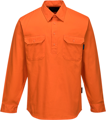 Orange | Cotton Shirt Closed L/S ClassD | The Safety Warehouse - Online Mega Store.