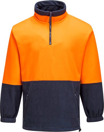 Orange/Navy | Polar Fleece Jumper  Class D | The Safety Warehouse - Online Mega Store.