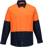 Orange/Navy | Food Industry Shirt L/S ClassD | The Safety Warehouse - Online Mega Store.