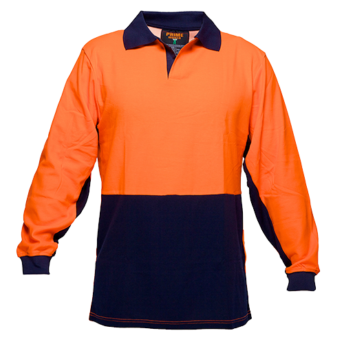 Orange/Navy | Food Polo Cotton Class D  L/S | The Safety Warehouse - Online Mega Store.