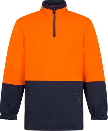 Orange/Navy | Cotton Fleece Jumper  Class D | The Safety Warehouse - Online Mega Store.