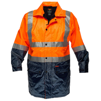 Orange/Navy | Hi-Vis Jacket Fleece Lined D&N | The Safety Warehouse - Online Mega Store.