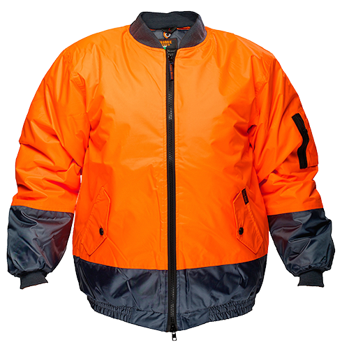 Orange/Navy | Bomber Jacket Lined  Class D | The Safety Warehouse - Online Mega Store.