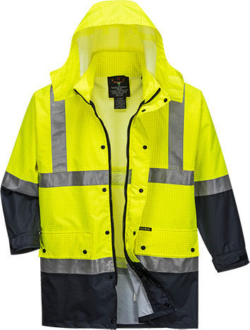Yellow/Navy | Hi-Vis Antistatic Jacket  D&N | The Safety Warehouse - Online Mega Store.