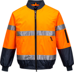 Orange/Navy | Hi-Vis Bomber Jacket Lined D&N | The Safety Warehouse - Online Mega Store.