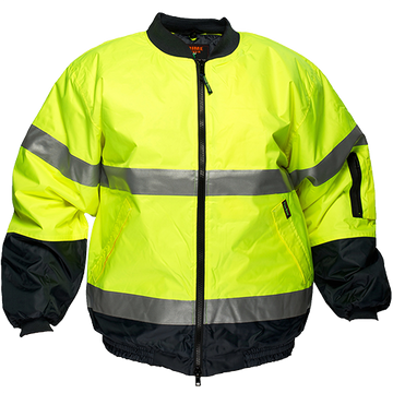 Hi-Vis Bomber Jacket Lined D&N -  MJ504