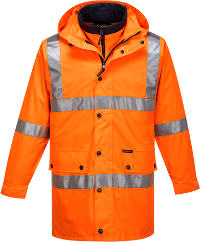 Orange | Hi-Vis 4in1 Jacket  D&N | The Safety Warehouse - Online Mega Store.