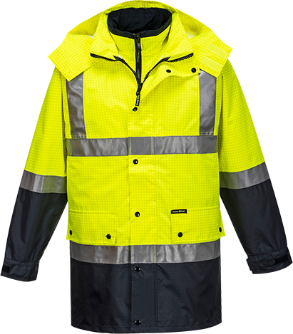 Yellow/Navy | Antistatic 4in1 Jacket  D&N | The Safety Warehouse - Online Mega Store.