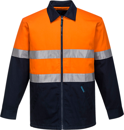 Orange/Navy | Quilt Padded Cotton Jacket D&N | The Safety Warehouse - Online Mega Store.