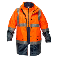 Orange/Navy | Hi-Vis 3in1 Jacket  D&N | The Safety Warehouse - Online Mega Store.