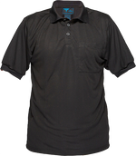 Black | Micro Mesh Polo Shirt  S/S | The Safety Warehouse - Online Mega Store.