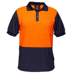 Orange/Navy | Micro Mesh Polo Class D  S/S | The Safety Warehouse - Online Mega Store.