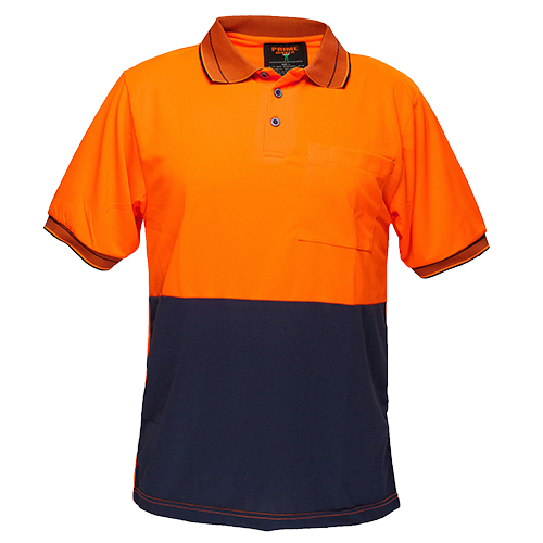 Orange/Navy | Cotton Backed Polo Class D S/S | The Safety Warehouse - Online Mega Store.