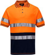 Orange/Navy | Cotton Comfort Polo D&N  S/S | The Safety Warehouse - Online Mega Store.