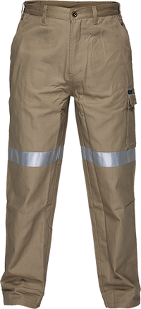 Khaki | Cotton Cargo Pants With Tape | The Safety Warehouse - Online Mega Store.
