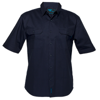 Navy | Business Shirt  S/S | The Safety Warehouse - Online Mega Store.