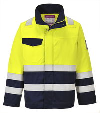 Yellow/Navy | Hi-Vis Modaflame Jacket | The Safety Warehouse - Online Mega Store.
