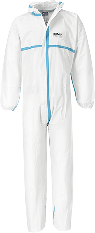 White | Biztex 4/5/6 Coverall (50pcs) | The Safety Warehouse - Online Mega Store.