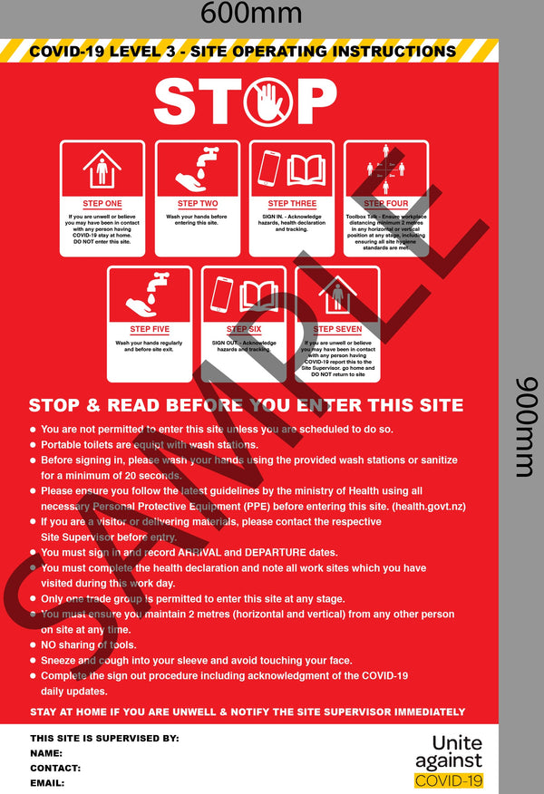 Site Safety Signage - Level 3 SS1
