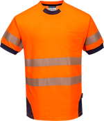 Orange/Navy | PW3 Hi-Vis T-Shirt S/S | The Safety Warehouse - Online Mega Store.