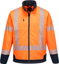 Orange/Navy | PW3 Hi-Vis Contrast Softshell | The Safety Warehouse - Online Mega Store.