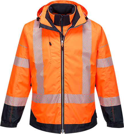 Orange/Navy | PW3 Hi-Vis 3in1 Jacket | The Safety Warehouse - Online Mega Store.
