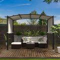 Pergola Gazebo Canopy Outdoor Patio Garden Steel Frame Sun Shelter with Retractable Canopy Shades