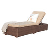 Outdoor Adjustable Patio Chaise Lounge with Cushion