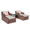 3 Piece Outdoor Furniture Sofa Set with Cushions