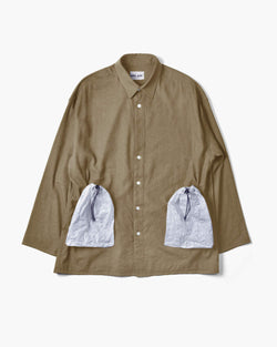 Homeless Over Shirt - Silk×Linen