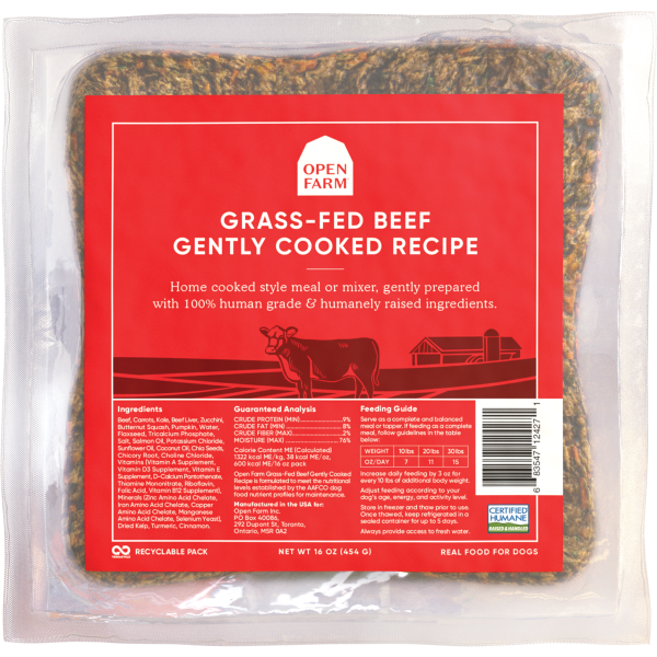 Open Farm Dog Gently Cooked Beef 16oz
