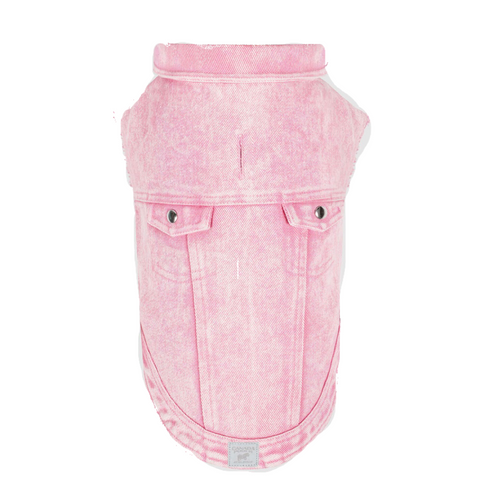 Paws Deals Canada Pooch Downtown Denim Vest Pink 14
