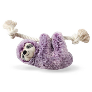 Fringe Studio - Violet Sloth on a Rope Plush Dog Toy