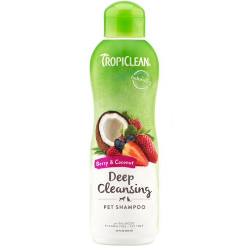 TropiClean Deep Cleansing Shampoo Berry & Coconut 20oz