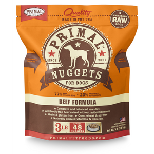 Primal Dog Raw Beef Nuggets 3lb