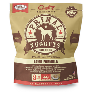 Primal Dog Raw Lamb Nuggets 3lb