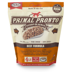 Primal Dog Raw Beef Pronto 4lb