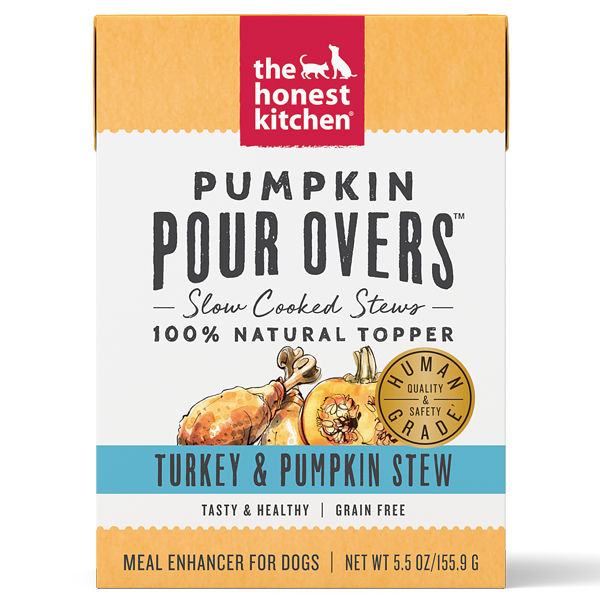 Honest Kitchen Dog GF Pour Overs Turkey & Pumpkin Stew 5.5oz