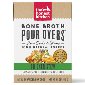 Honest Kitchen Dog GF Pour Overs Bone Broth Chicken Stew 5.5oz