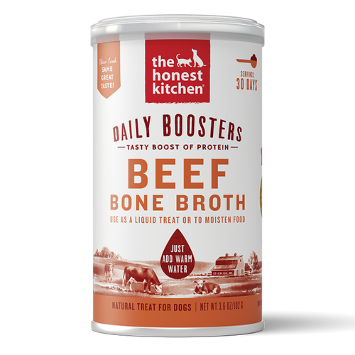 Honest Kitchen Daily Boosters Instant Beef Bone Broth Turmeric 3.6oz