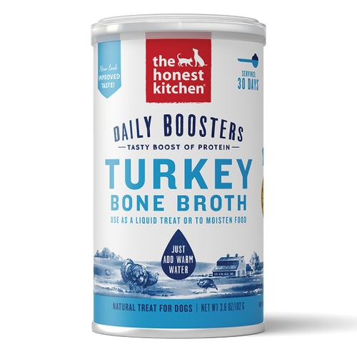 Honest Kitchen Daily Boosters Instant Turky Bone Broth Turmeric 3.6oz