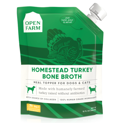 Open Farm Dog/Cat Turkey Bone Broth Topper 12oz