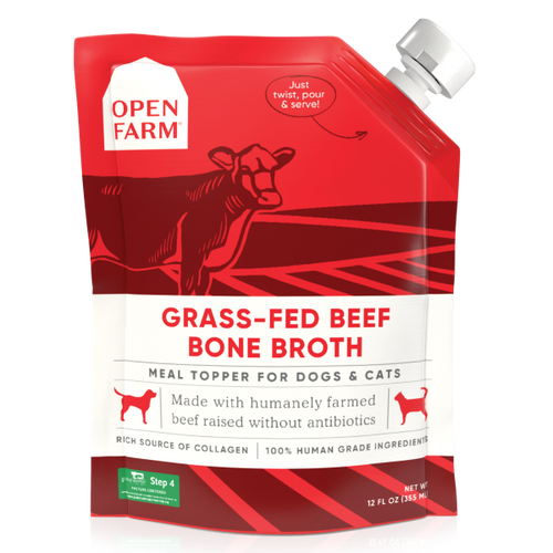 Open Farm Dog/Cat Grass-Fed Beef Bone Broth Topper 12oz