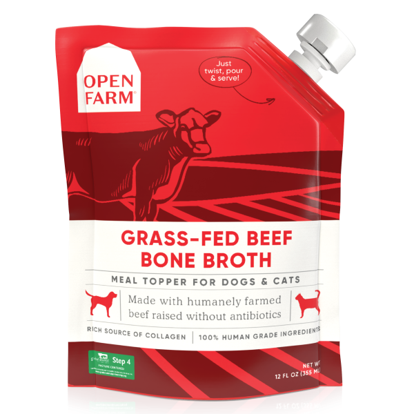 Open Farm Dog/Cat Grass-Fed Beef Bone Broth Topper 12 oz
