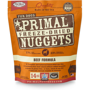 Primal Dog Freeze Dried Beef 14 oz