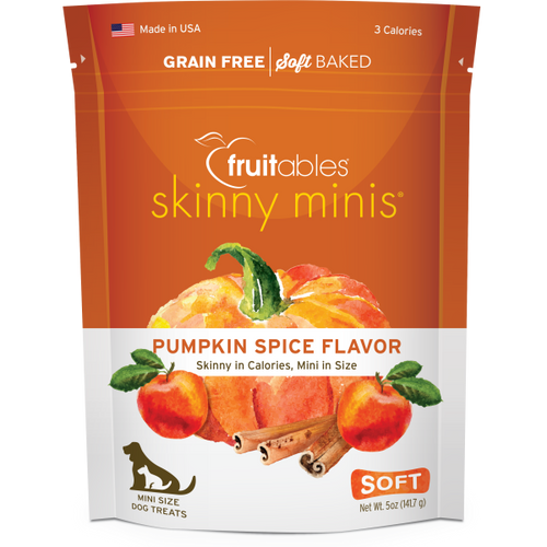 Fruitables Dog Skinny Minis Pumpkin/Spice Chewy Treats 141g