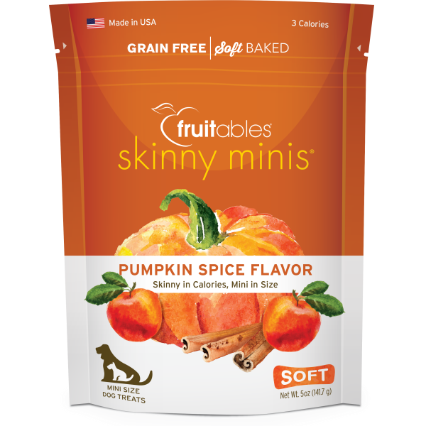 Fruitables Dog Skinny Minis Pumpkin/Spice Chewy Treats 141 g