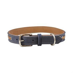 "Shedrow K9 Banyon II Laced Leather Collar 20"" Bluestone"