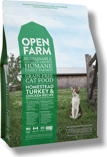 Open Farm Cat Homestead Turkey & Chicken 4lb